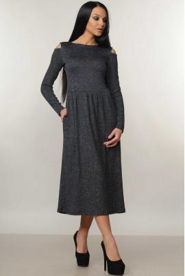 Ніжне темно-синє міді плаття