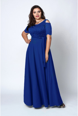 Нарядне яскраве плаття максі довжини
