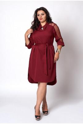 Недороге нарядне плаття кольору марсала