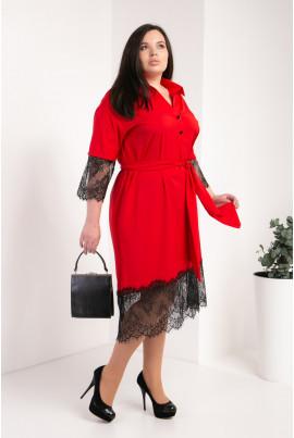 Модне червоне плаття великого розміру