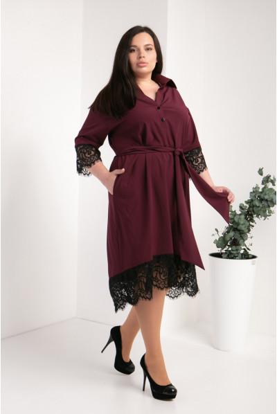 Модне бордове плаття великого розміру