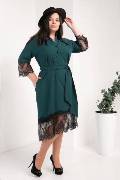 Модне зелене плаття-сорочка великого розміру