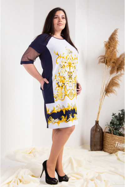 Оригінальне чорне-жовте плаття великого розміру