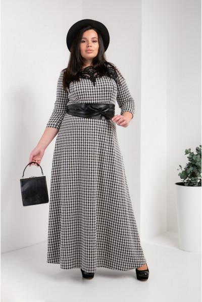 Сіре плаття плюс сайз в підлогу