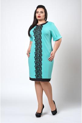 Святкова бірюзова сукня розміру плюс сайз