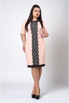 Святкова пудрова сукня розміру плюс сайз