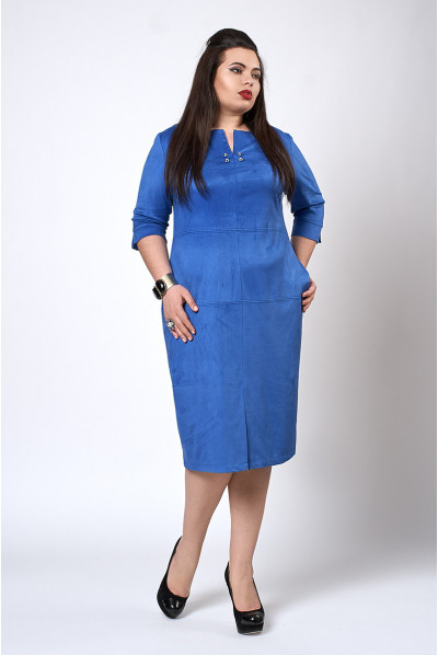 Синя сукня футляр розміру плюс сайз