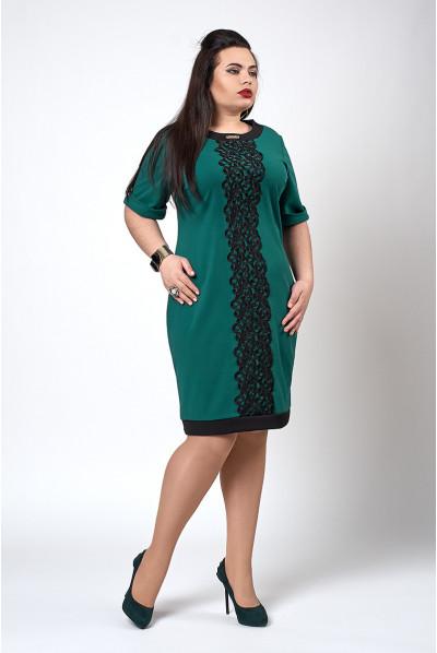 Весняне зелене плаття розміру плюс сайз