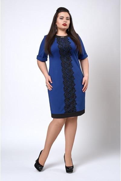 Весняне синє плаття розміру плюс сайз