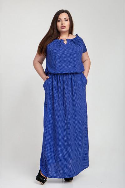 Синє плаття на літо великого розміру