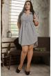 Коротке сіре плаття великого розміру