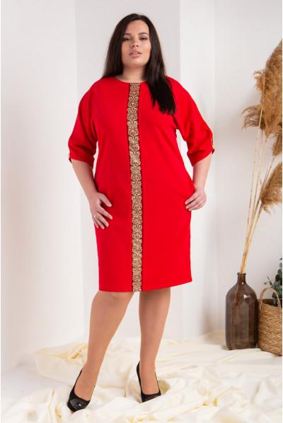 Нарядне червоне плаття плюс сайз
