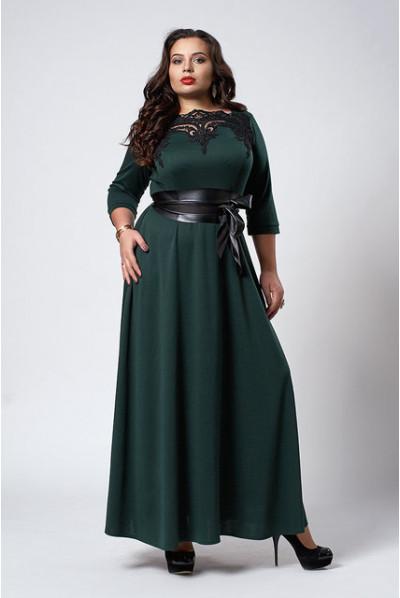 Тепле нарядне плаття смарагдового кольору