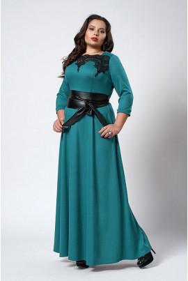 Тепле нарядне плаття батал в підлогу