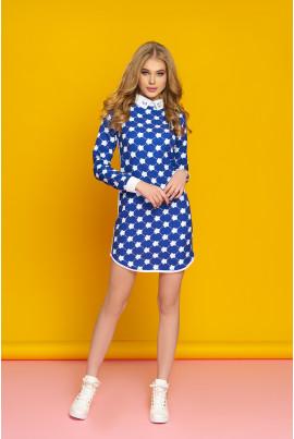 Блакитне гламурне плаття міні великих розмірів