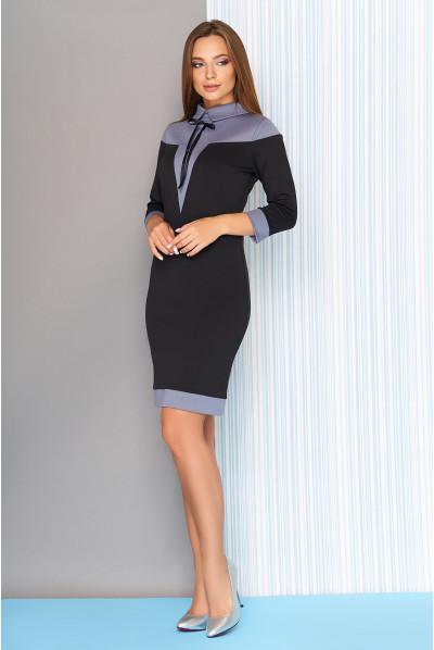 Чорне повсякденне плаття-футляр