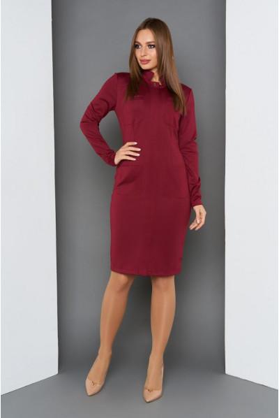 Бордове плаття на кожен день великих розмірів
