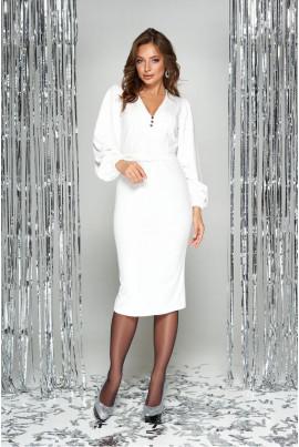 Біле ефектне плаття міді великих розмірів
