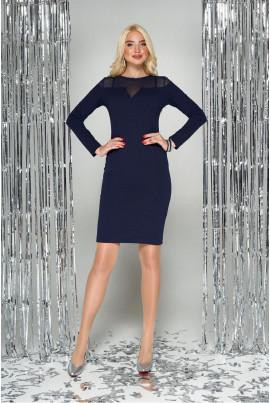 Синє витончене плаття для повних жінок