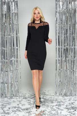 Чорне привабливе плаття з сіткою великих розмірів
