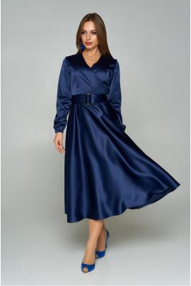 Темно-синє елегантне плаття великих розмірів