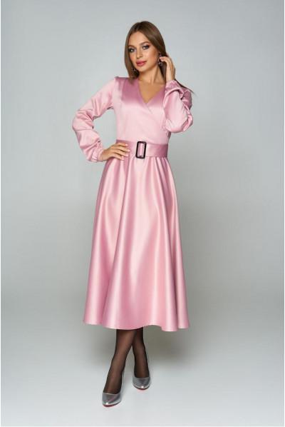 Рожеве святкове плаття великих розмірів