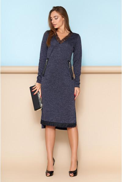 Синє універсальне плаття з кишенями