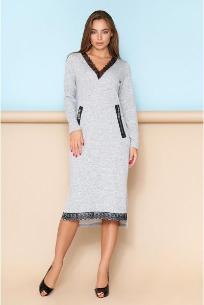Сіре привабливе осіннє плаття