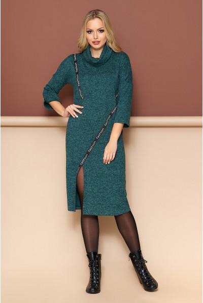 Зелене стильне плаття для повних жінок