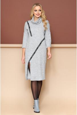 Сіре просторе плаття для жінок на кожен день
