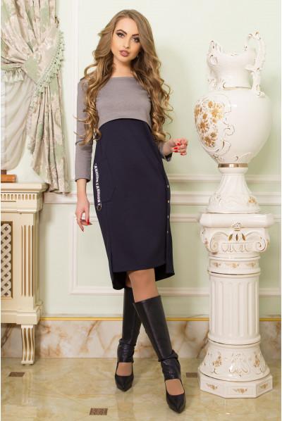 Сіре оригінальне спортивне плаття великих розмірів