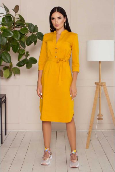Жовте оригінальне плаття великих розмірів