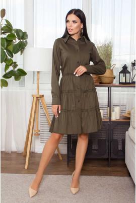 Вишукане плаття кольору хакі великих розмірів