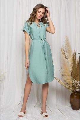 Ментолове стильне жіноче плаття великого розміру