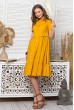 Жовте оригінальне яскраве плаття з коротким рукавом