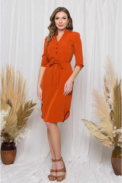Теракотове практичне елегантне плаття