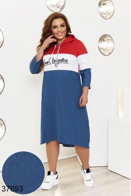 Двокольорове оригінальне повсякденне плаття