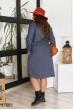 Темно-синє зручне повсякденне плаття великих розмірів