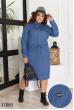 Блакитне джинсове плаття міді для повних жінок