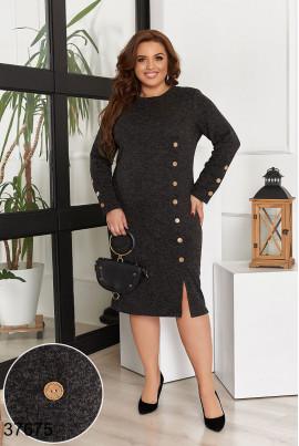 Чорне осіннє привабливе плаття