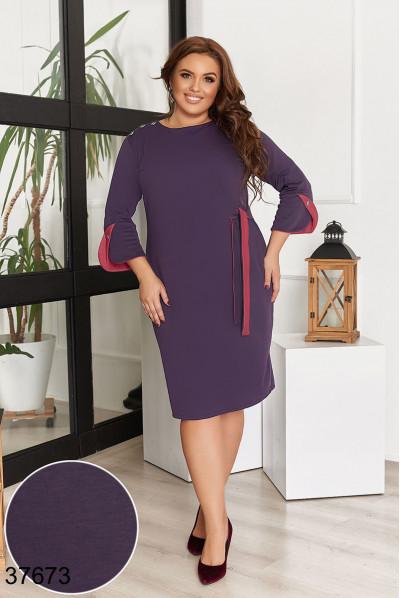 Оригінальне плаття сливового кольору