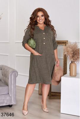 Сучасне повсякденне плаття кольору хакі великих розмірів