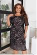 Чорне вечірнє плаття для жінок з апетитними формами