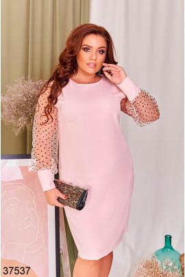 Рожеве ніжне нарядне плаття