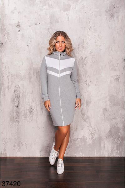 Сіре спортивне плаття великих розмірів