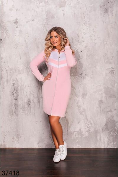 Пудрове облягаюче плаття великих розмірів