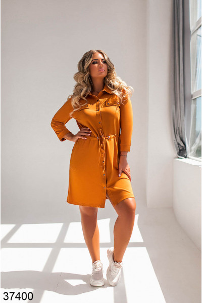 Помаранчеве яскраве плаття для повних жінок