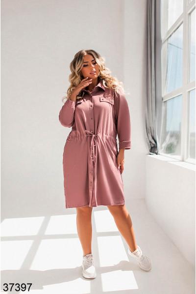Лаконічне жіноче плаття кольору мокко