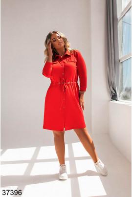 Червоне повсякденне трикотажне плаття