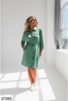 Зелене комфортне плаття для жінок з апетитними формами